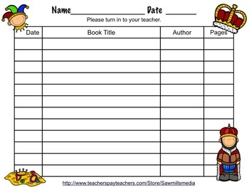 Royal Readers Theme (Prince, Princess, Castle, Dragons) - Bookmarks and More