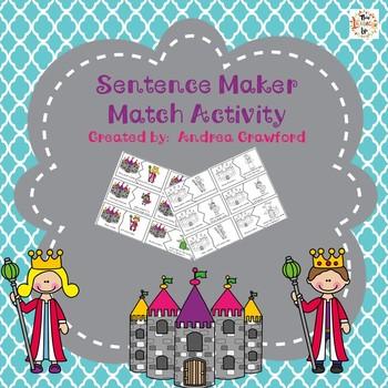 Sentence Maker Match Activity:  Subject/Predicate Puzzles