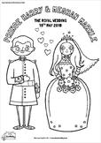 Royal Wedding 2018 Coloring Page
