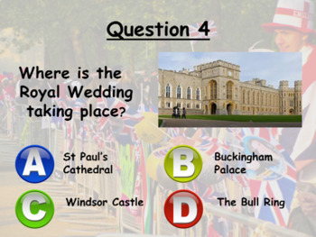 Royal Wedding Quiz