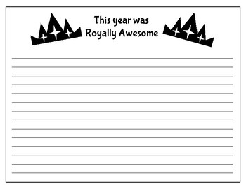Royally Awesome- End of Year Writing and Craftivity