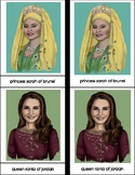Royals Around the World Montessori Four Part Cards