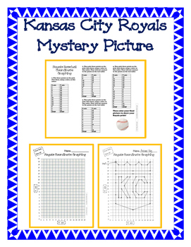 KC Royals Baseball Coordinate Graphing Mystery Picture