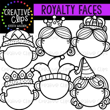 Royalty Face Templates {Creative Clips Clipart}