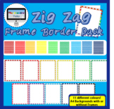 Royalty Free Zig Zag Background Borders