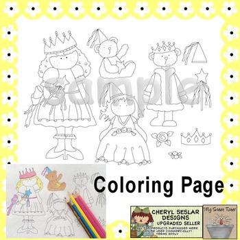 Royalty Princess Coloring Page