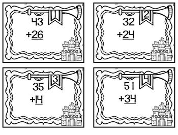 Royalty Series Castle Double Digit Addition No Regrouping