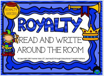 Royalty Series Read and Write Around the Room Royalty
