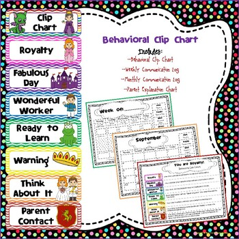 Royalty Themed - Behavioral Clip Chart