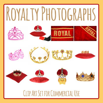 Royalty Themed Photos - Crowns Etc Photograph Clip Art Commercial Use