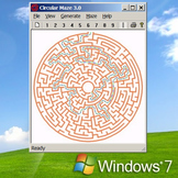 Royalty-free Printable Circular Maze creation program for Windows