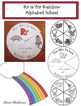 Rr is for Rainbow Alphabet Wheel