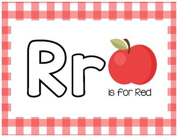 Rr is for Red Play Dough Mat