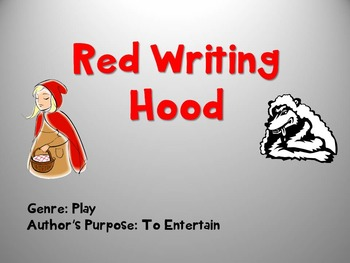 Red Writing Hood Skills Power Point