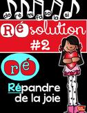 Résolution #2: Répandre de la joie