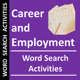 Career and Employment Word Search Activities