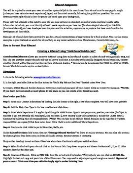 Résumés- Creating a Résumé Using GotRésuméBuilder.com Online Résumé Builder