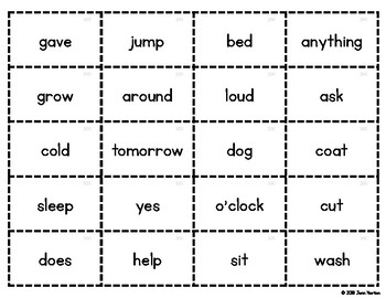 RtI: 300 Sight Word List Flash Cards