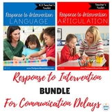 RtI Articulation and Language Bundle: Toolkits for Teachers