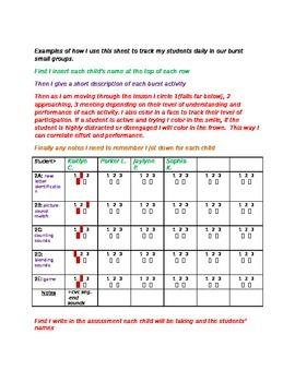 RtI Burst tracking sheet