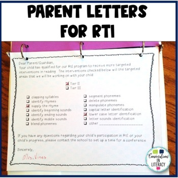 RTI Data Tracking Forms Binder: for Teachers and Students Kindergarten