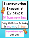 RtI Integrity Evidence Forms
