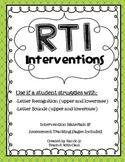 RtI Intervention Unit {Letter & Sound ID}