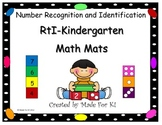RtI Kindergarten Math Mats for Number Recognition and Identification CCSS