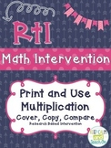 RtI Math Intervention: Cover, Copy, Compare Multiplication