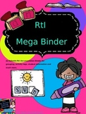 RtI Mega Documentation Binder(Editable)