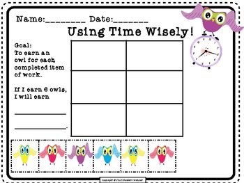 RtI: Owl Behavior Documentation and Motivation to Complete Work