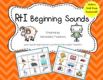 RtI: Phonemic Awareness Beginning Sounds