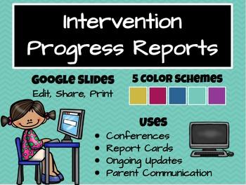 RtI Progress Reports: Google Slides & Printable