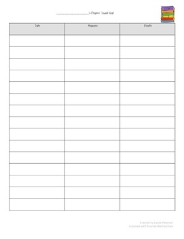 RtI Reading Intervention Planning and Organizing Sheet