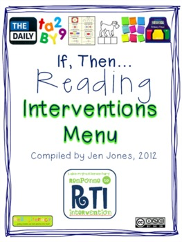 """RtI: Response to Intervention """"If, Then"""" Reading Intervent"""