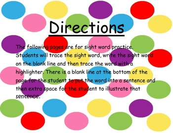 RtI Sight Word Progress Monitoring and Activity Sheets for 1st Grade
