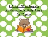RtI Sight Word Progress Monitoring and Activity Sheets for