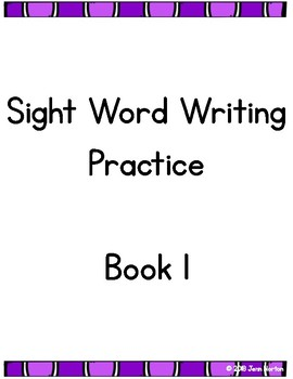 RtI: Sight Word Writing Practice Book 1