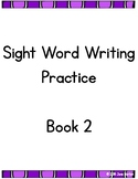 RtI: Sight Word Writing Practice Book 2