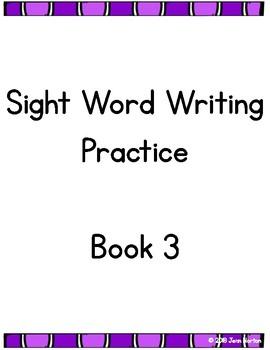 RtI: Sight Word Writing Practice Book 3