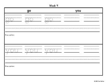 RtI: Sight Word Writing Practice Bundle