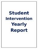 RtI Student Yearly Report