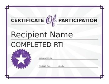 RtI award