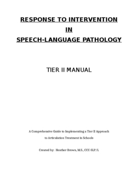 RtI for the SLP