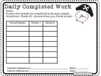 RtI:Pirate Hat Behavior Documentation and Motivation to Complete Work