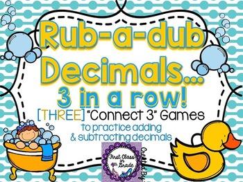 Rub A Dub Decimals (Adding & Subtracting Decimals)