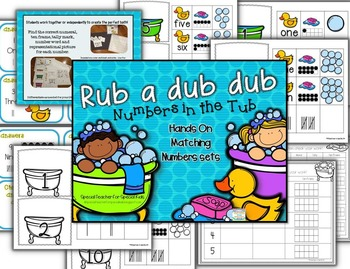 Rub a Dub Dub.. Numbers in the Tub-Hands On Matching Number sets