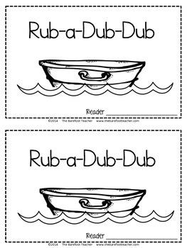 Rub a Dub Dub Nursery Rhyme Emergent Reader & Class Poster {Nursery Rhymes}