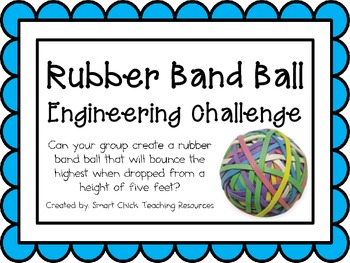 Rubber Band Ball: Engineering Challenge Project ~ Great STEM Activity!