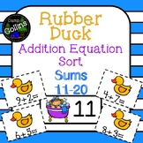 Rubber Duck Addition Equation Sort: Sums 11-20
